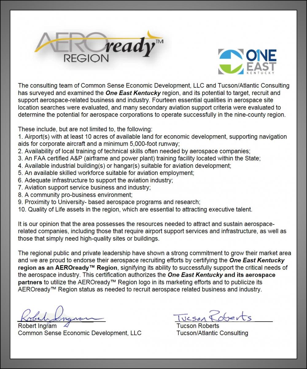 AeroReady Region Letter