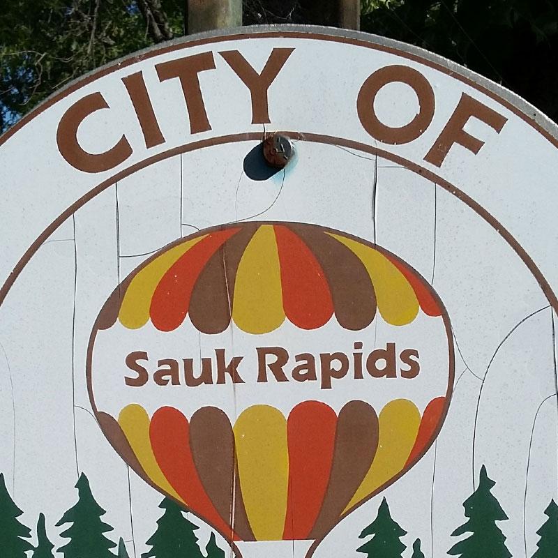 City of Sauk Rapids, MN sign