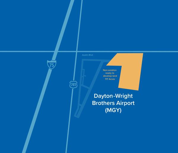 MGY dayton airport available land