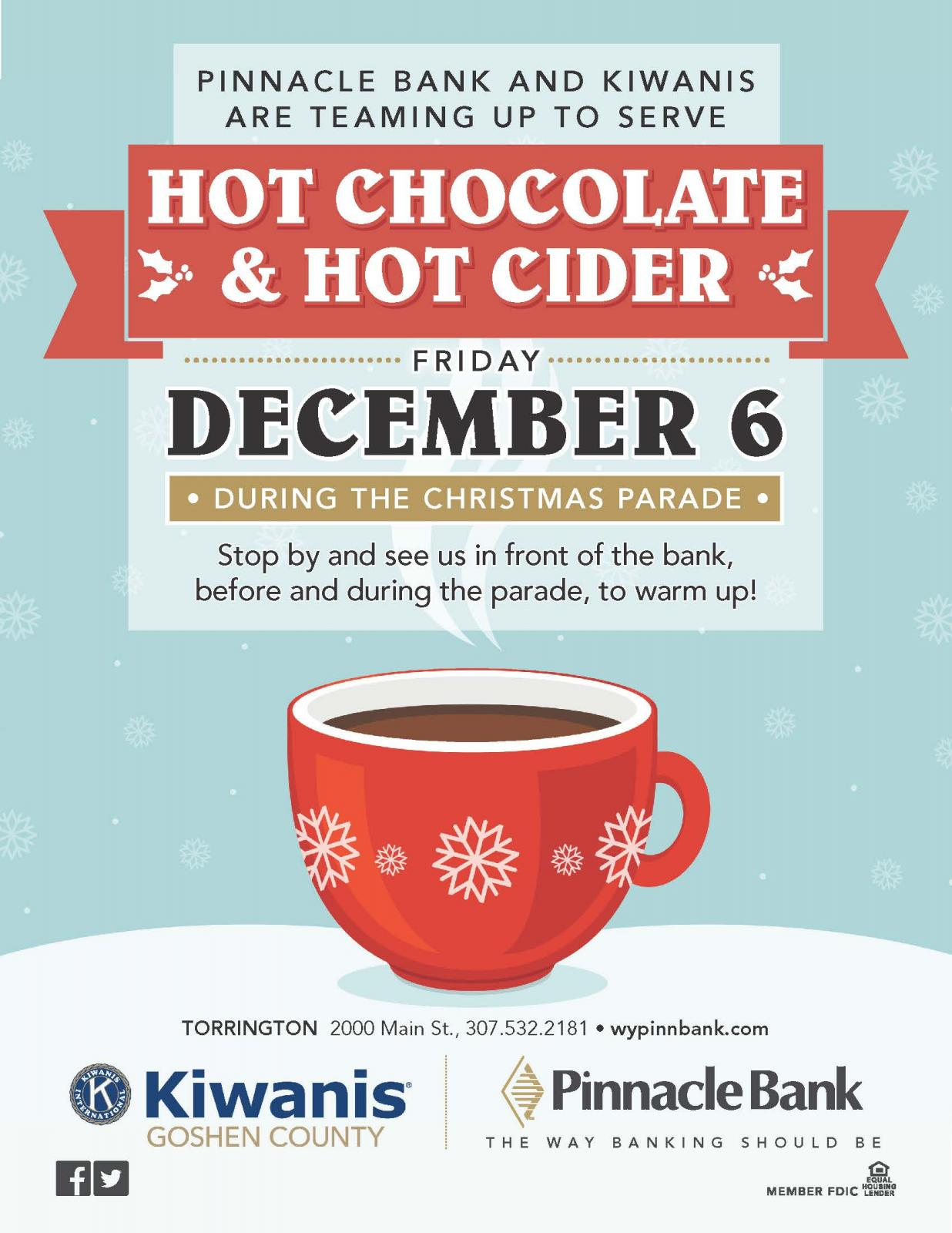 Hot Chocolate & Hot Cider during the Parade Photo