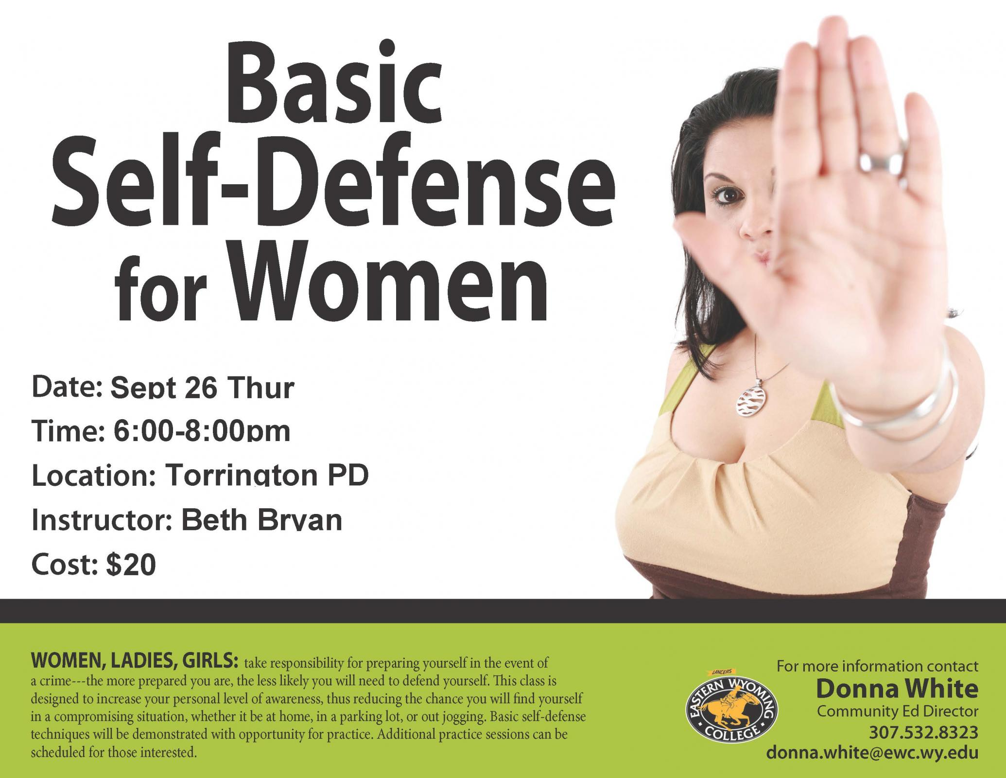 Event Promo Photo For Basic Self-Defense for Women