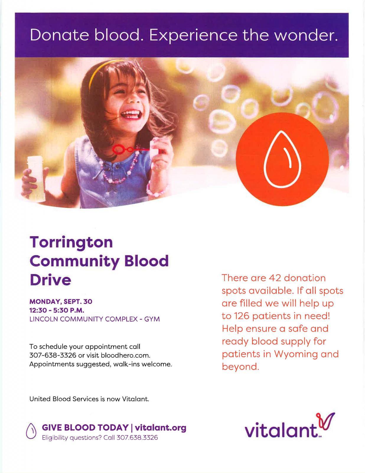 Torrington Community Blood Drive Photo