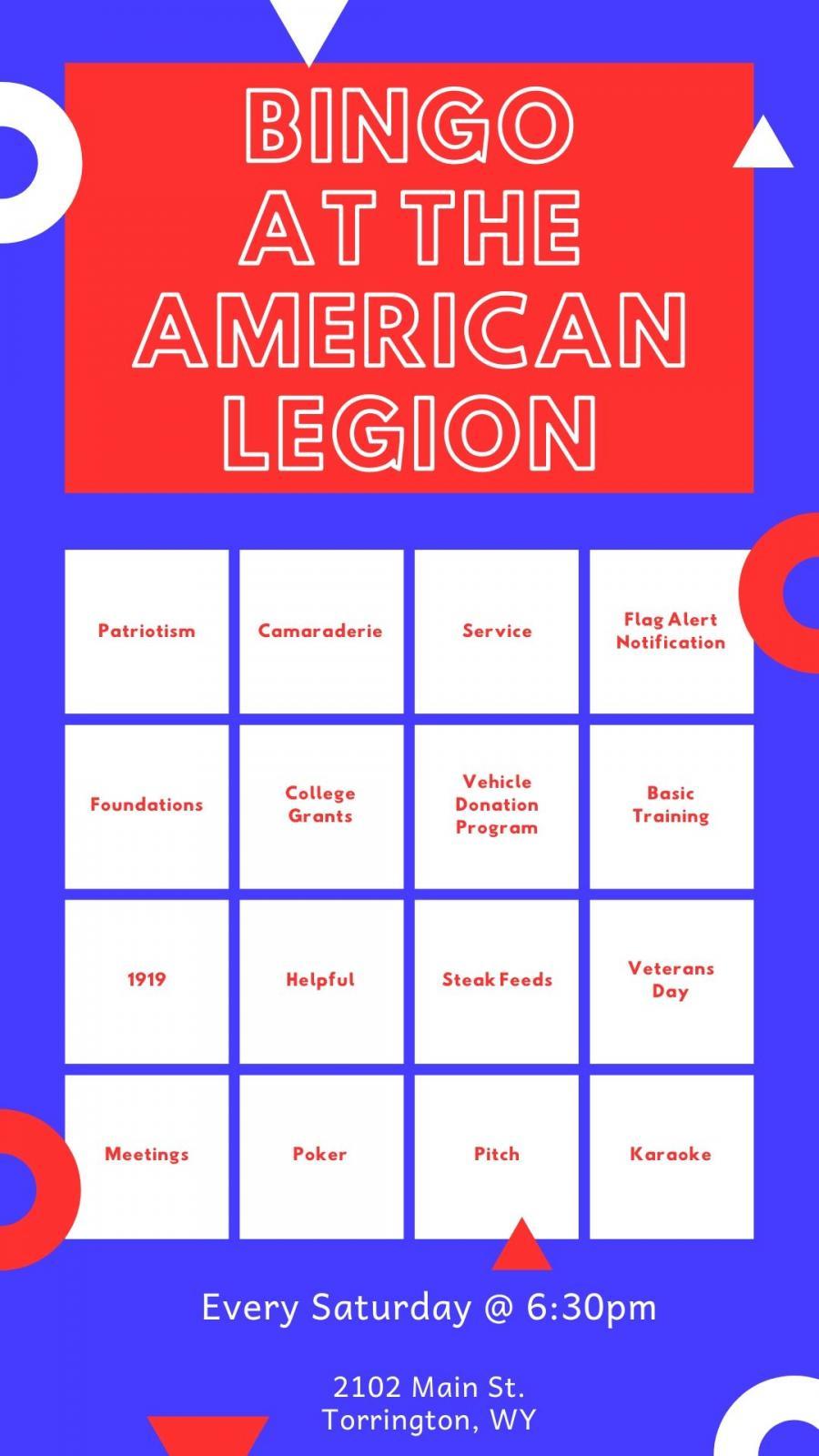 Bingo at The American Legion Photo