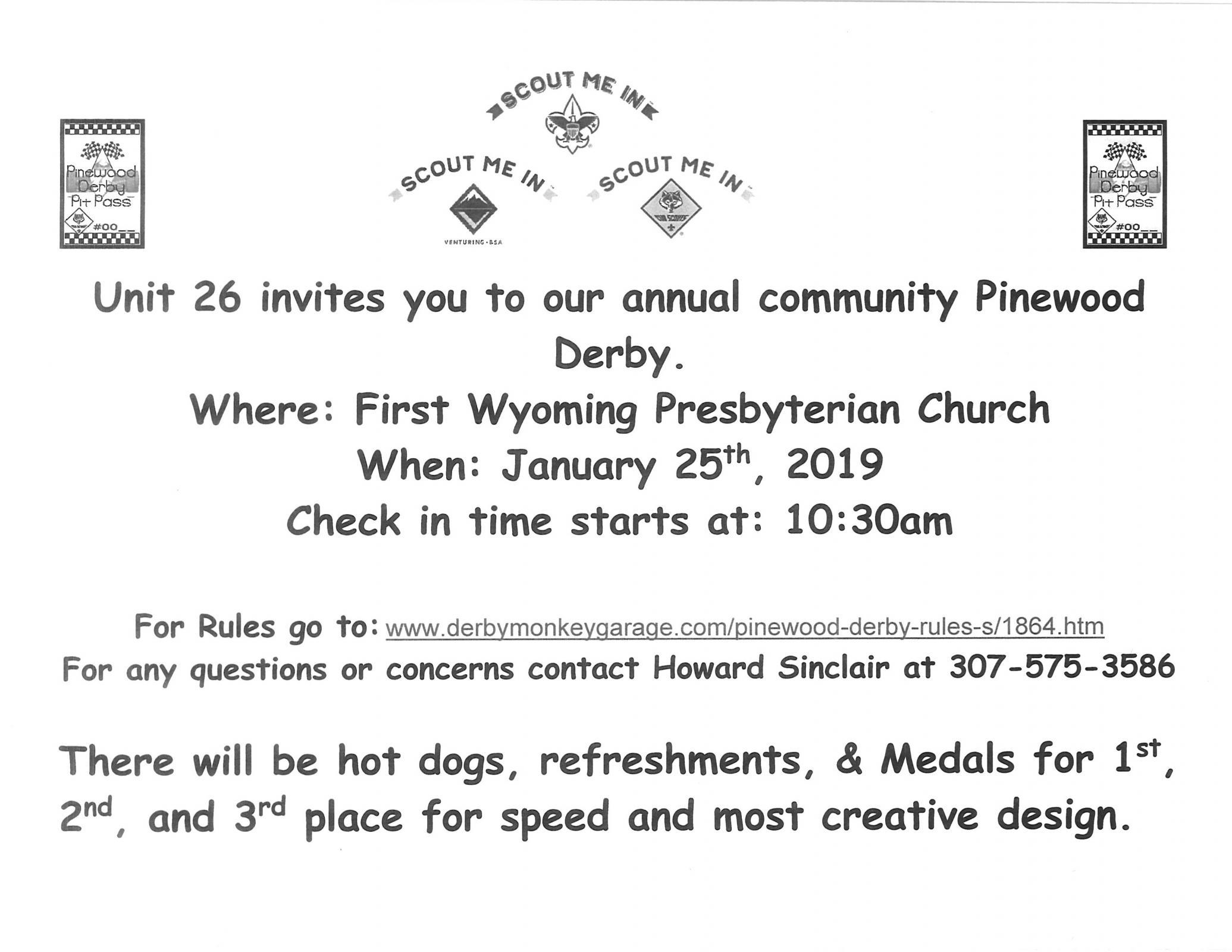 Community Pinewood Derby Photo