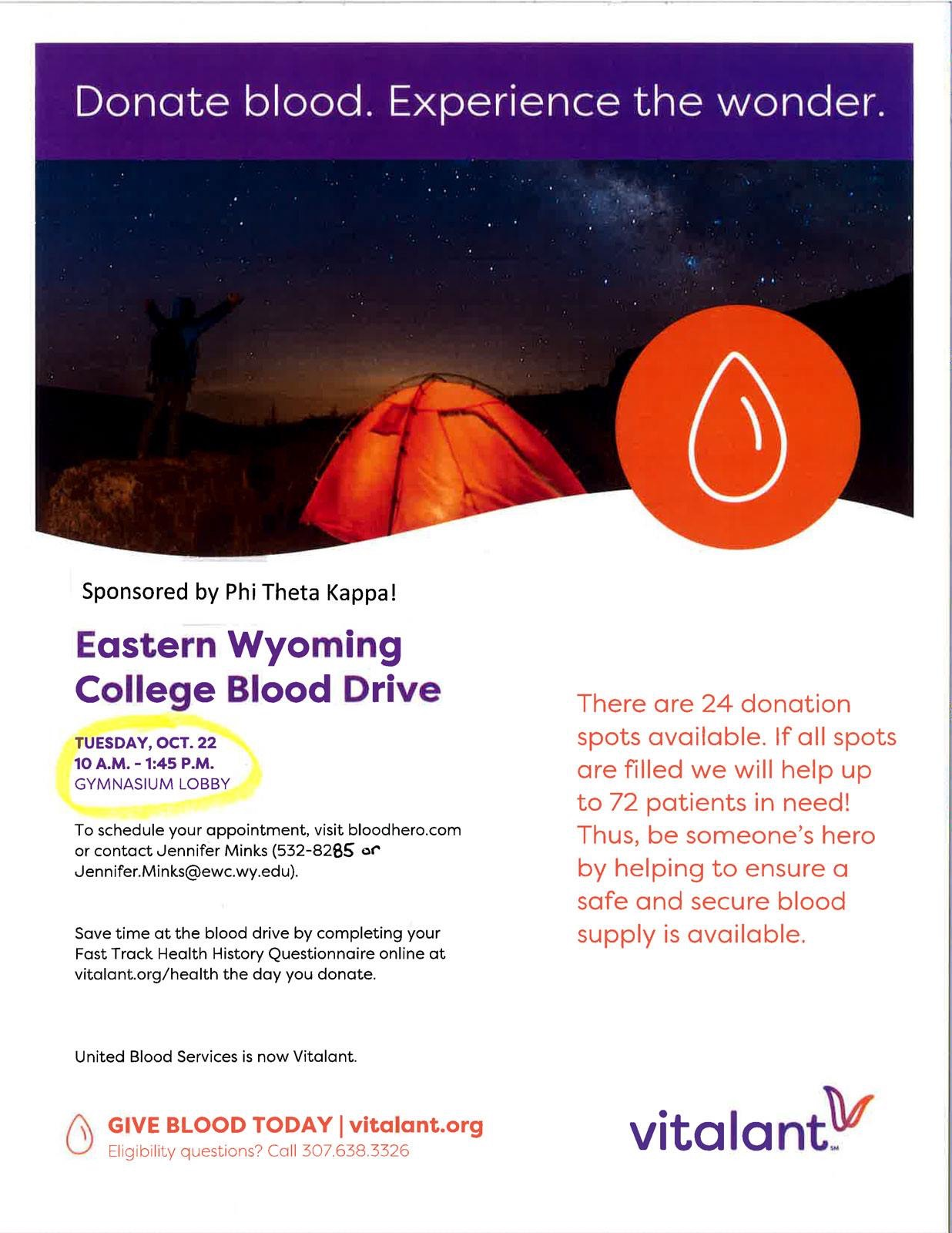 Eastern Wyoming College Blood Drive Photo