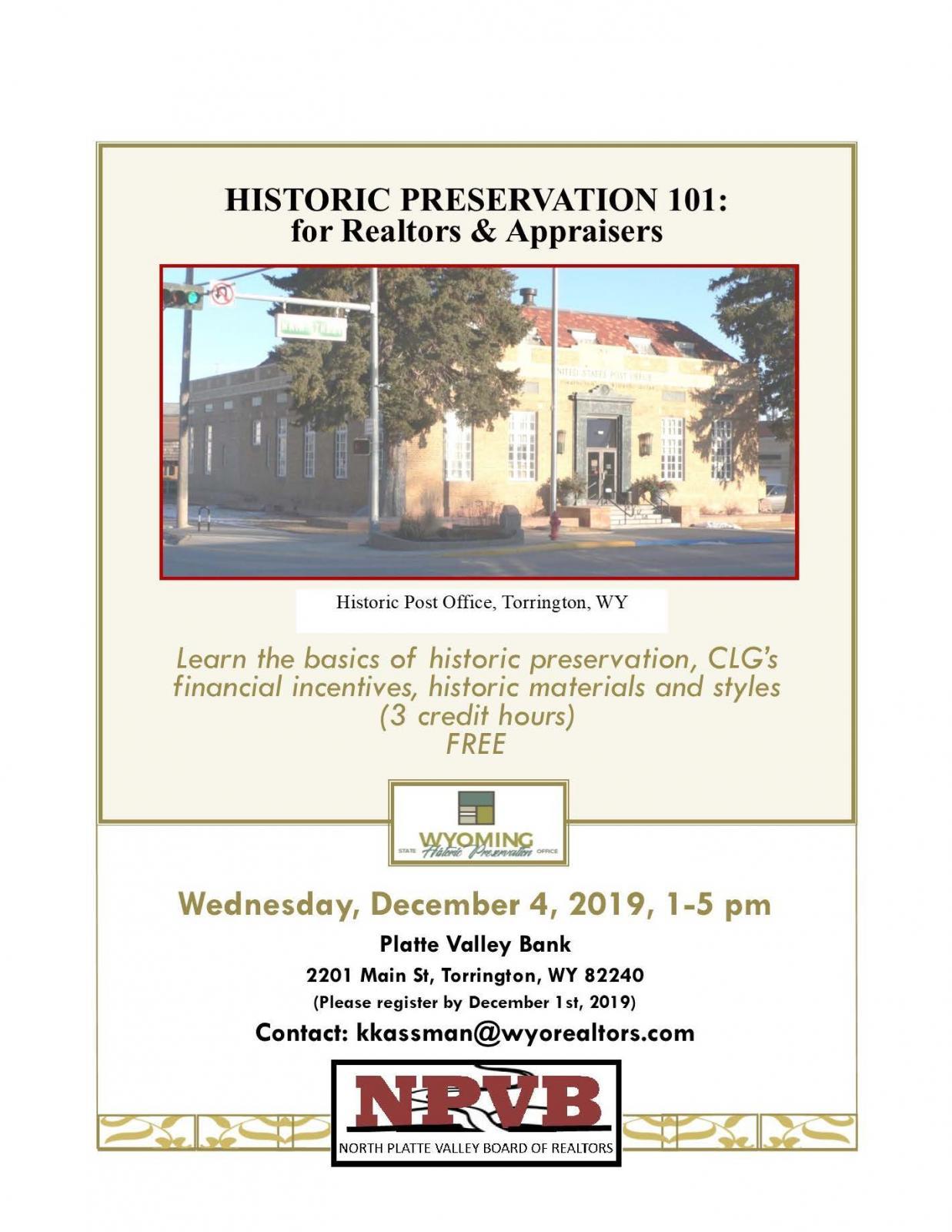 Historic Preservation 101: for Realtors & Appraisers Photo