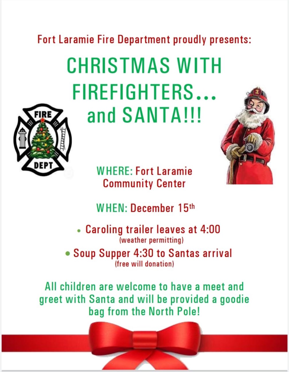 Christmas with Firefighters and Santa! Photo