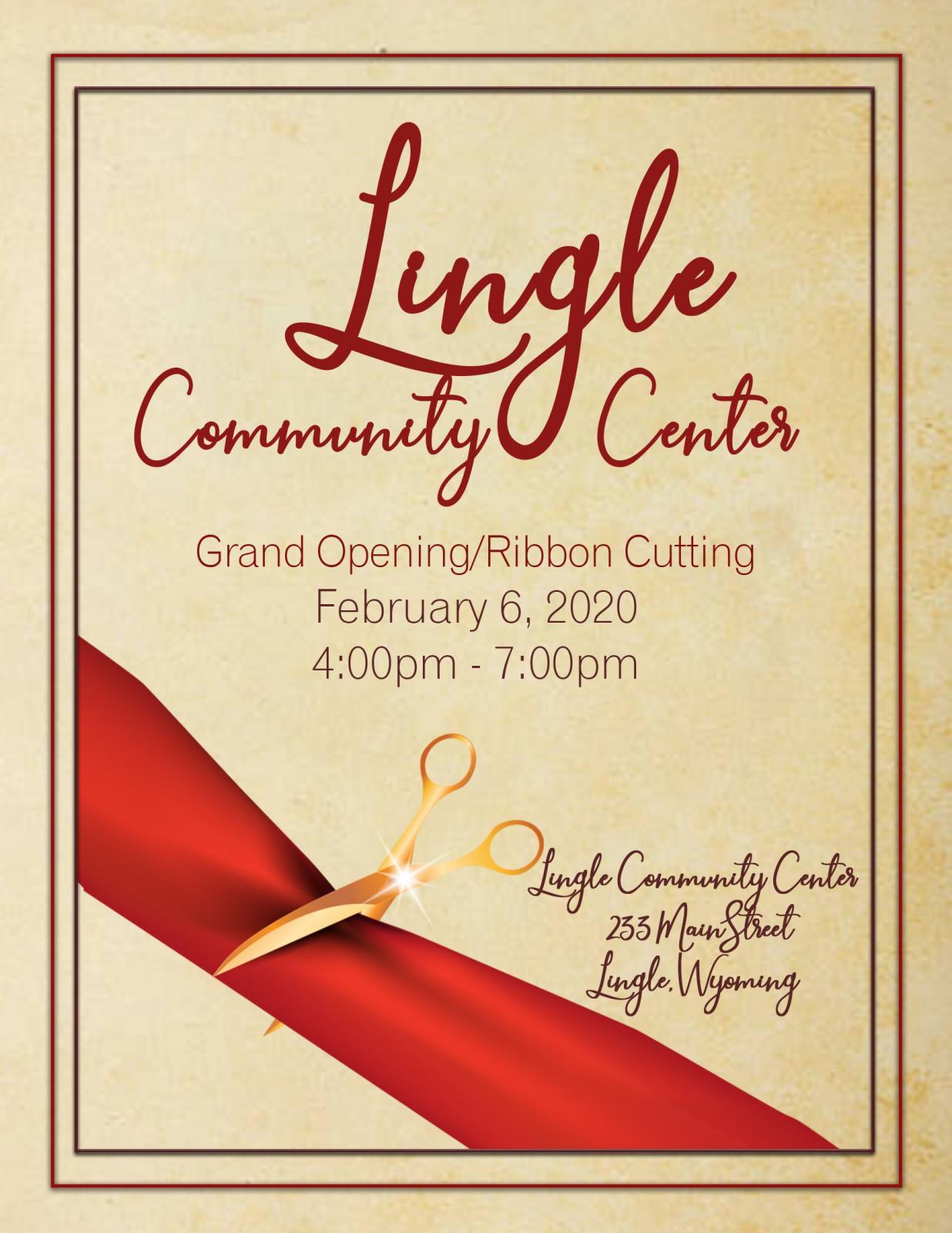 Lingle Community Center Grand Opening Photo