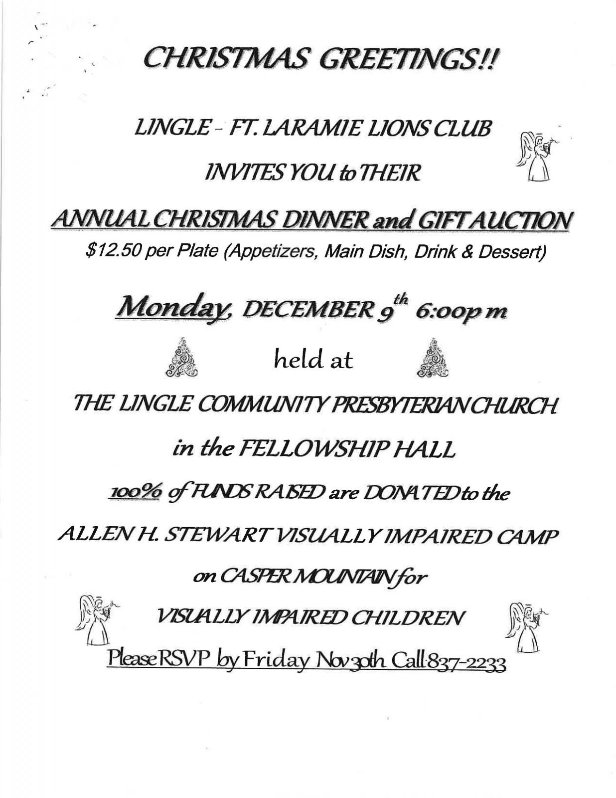 Annual Christmas Dinner and Gift Auction Photo