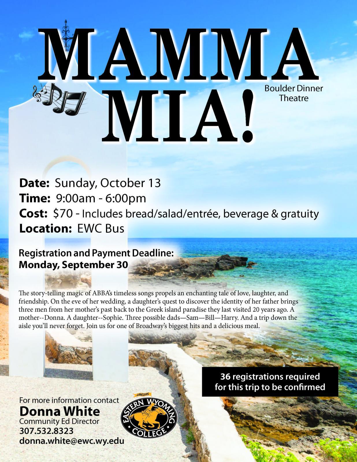 Event Promo Photo For EWC bus ride to MAMMA MIA!