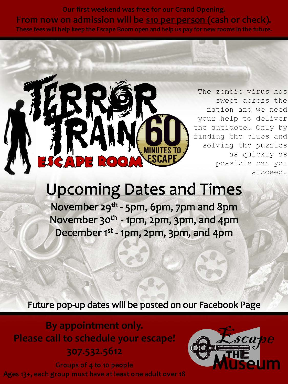 Terror Train Escape Room Photo