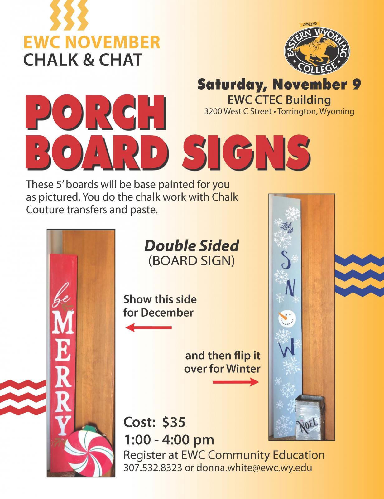 Porch Board Signs Class at EWC Photo
