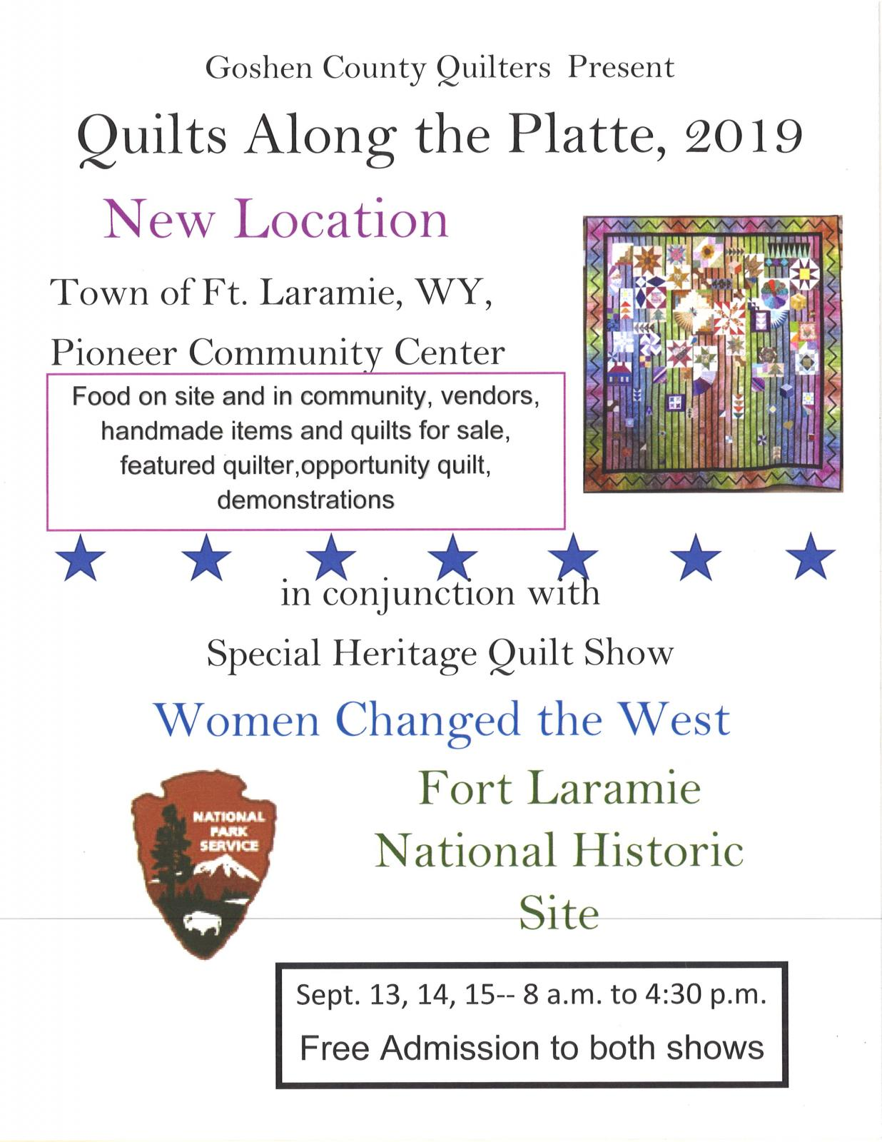 Event Promo Photo For Quilts Along the Platte, 2019