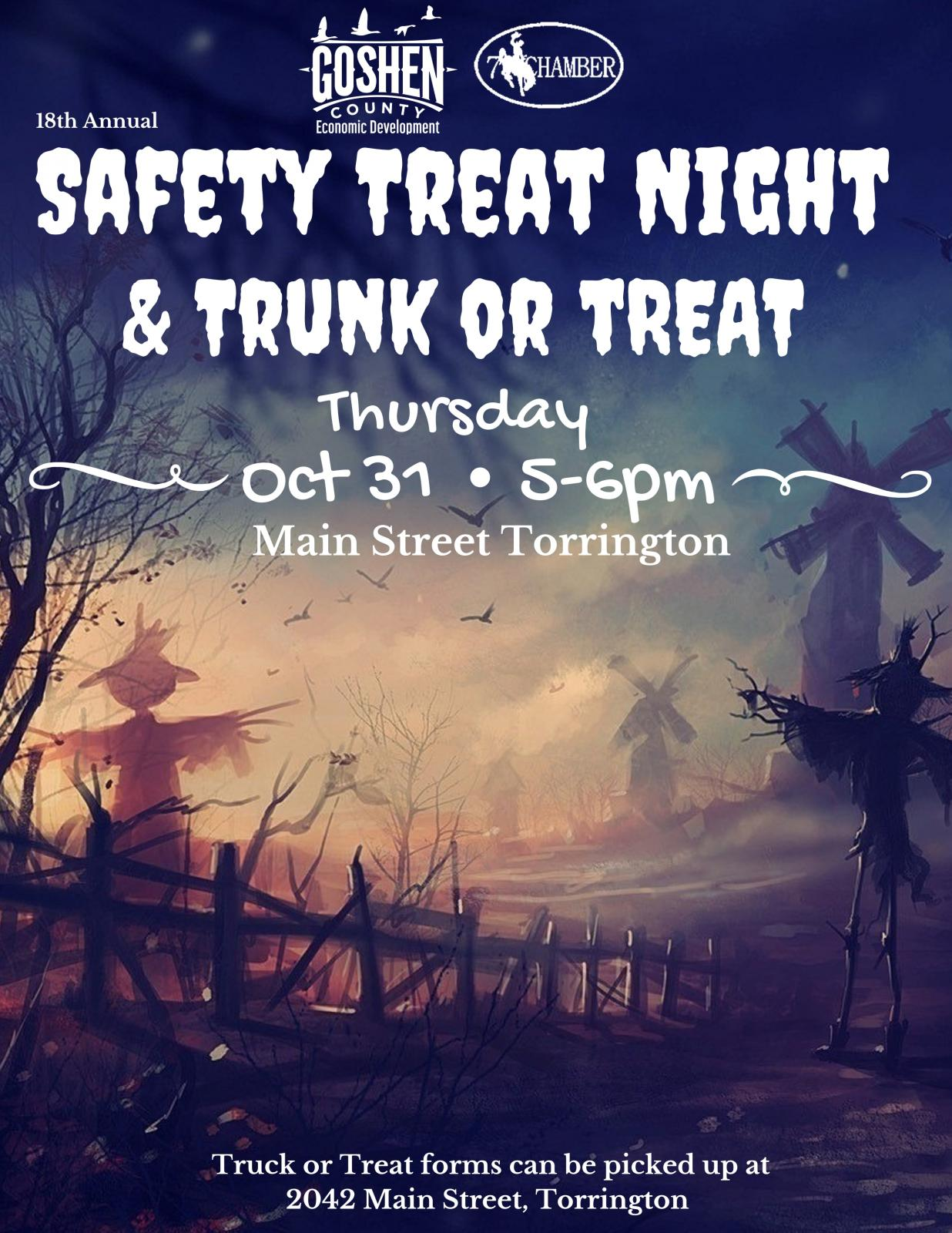Event Promo Photo For Safety Treat Night & Trunk or Treat