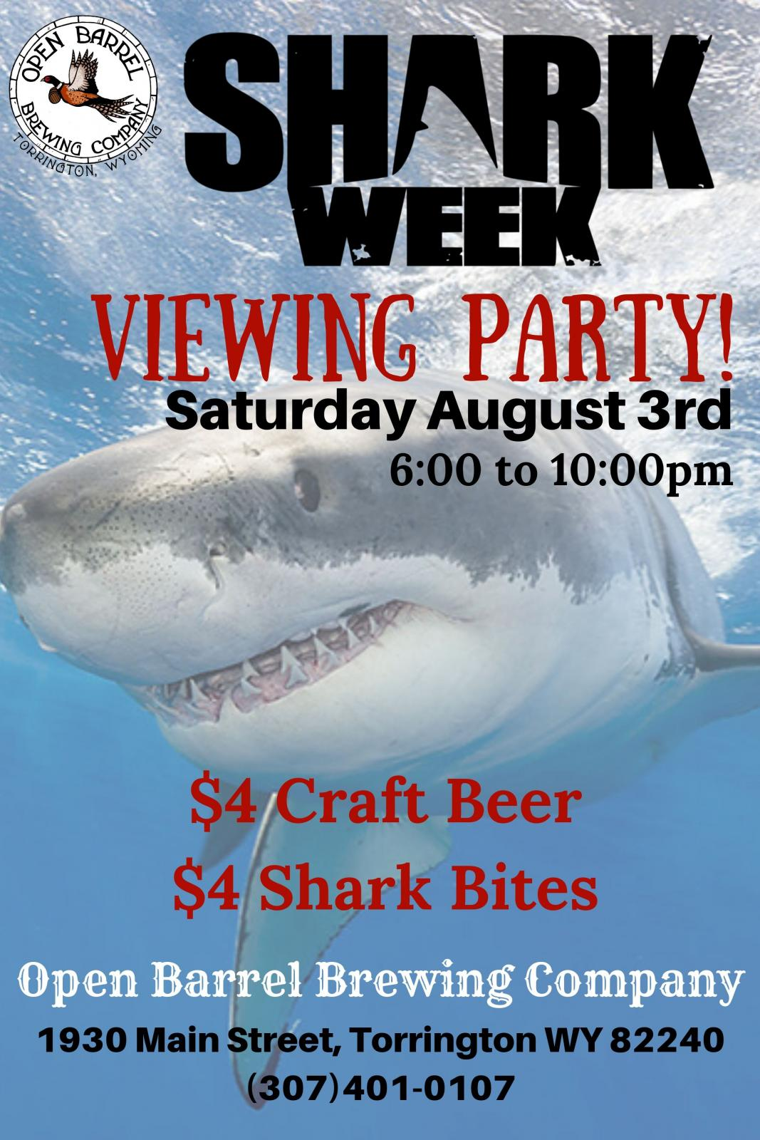 Shark Week Viewing Party Photo
