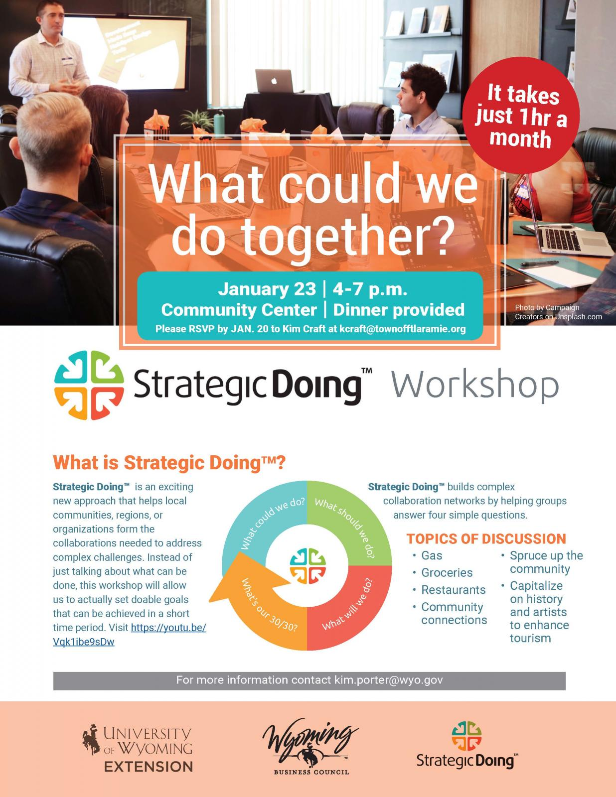 Strategic Doing Workshop for Ft. Laramie Photo