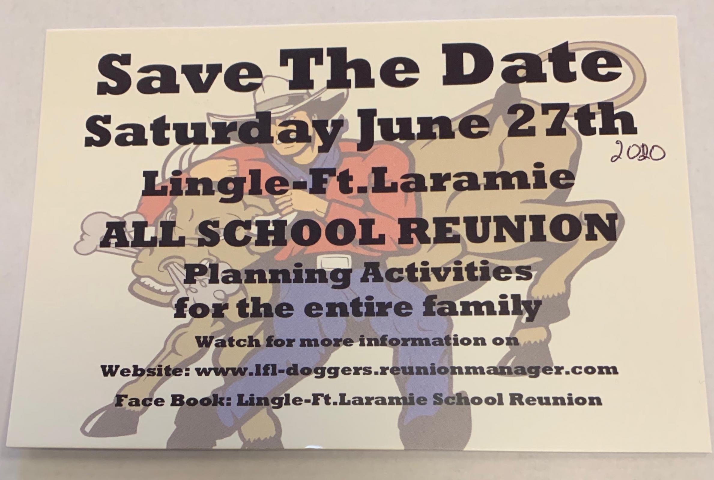 Lingle-Ft. Laramie All School Reunion Photo