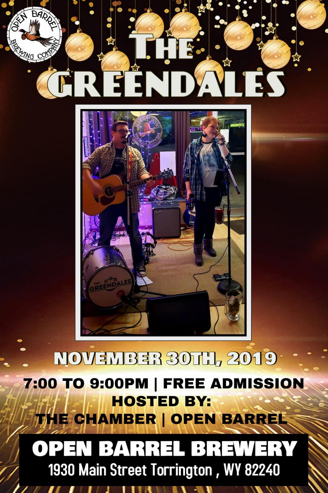 The Greendales Band at Open Barrel Brewing Company Photo