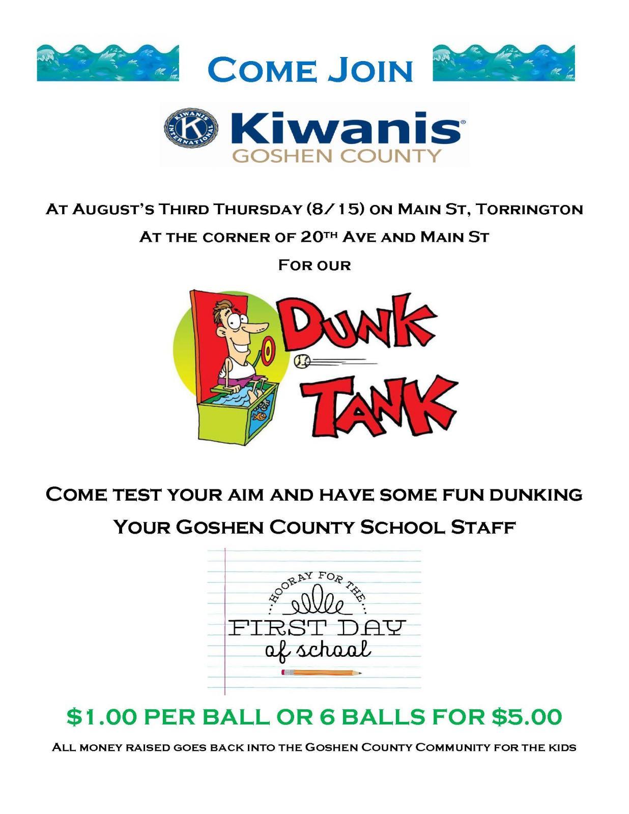 3rd Thursday Dunk Tank Photo