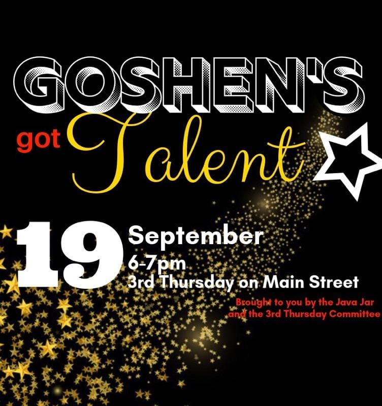 Event Promo Photo For Goshen's Got Talent
