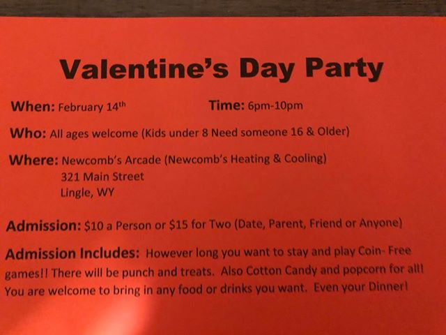 Valentine's Day Party @ Newcombs Arcade Photo