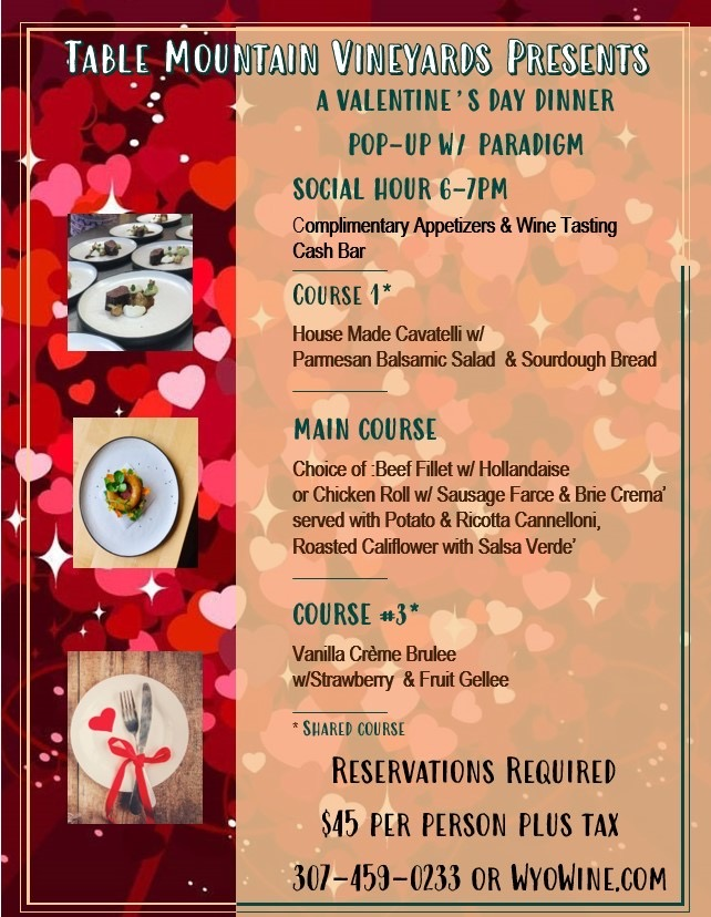 A Valentine's Day Dinner @ Table Mountain Vineyards Photo