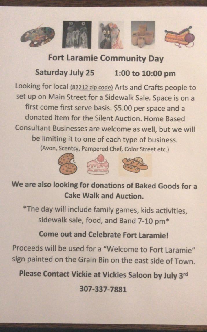 Fort Laramie Community Day Photo