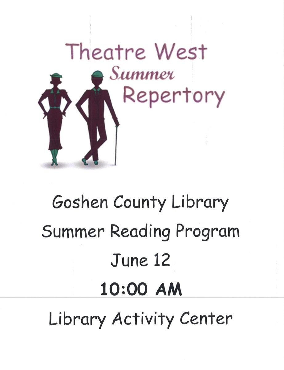 Goshen County Library - Theatre West Summer Repertory Photo