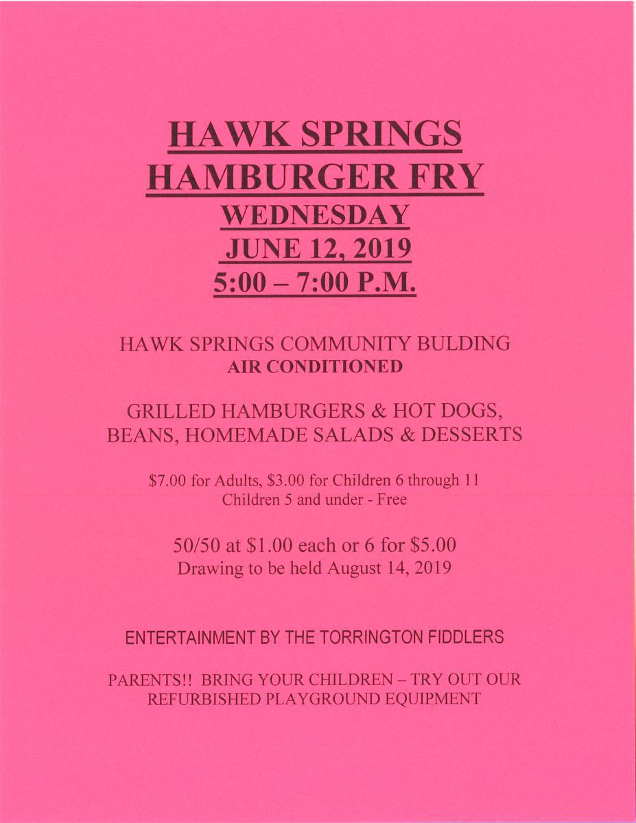Hawk Springs Hamburger Fry Photo