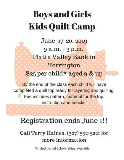 Kids Quilt Camp Photo
