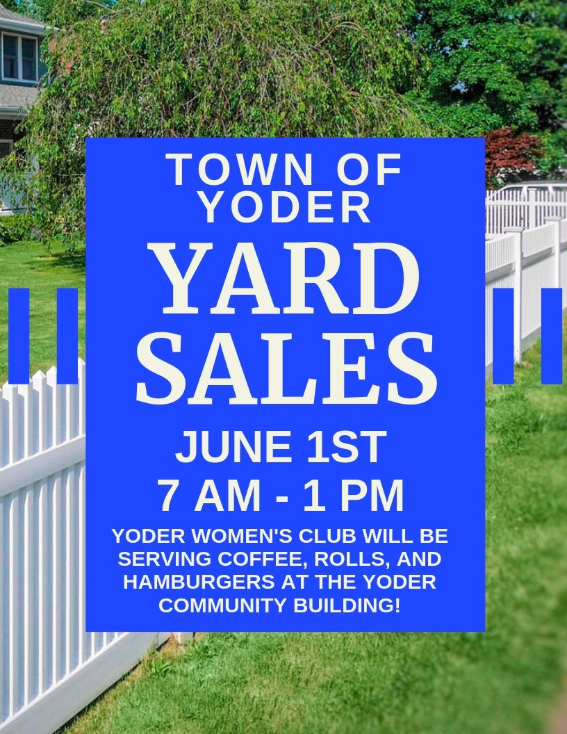 Town of Yoder yard sale Photo