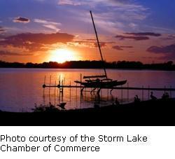 Storm Lake sunset
