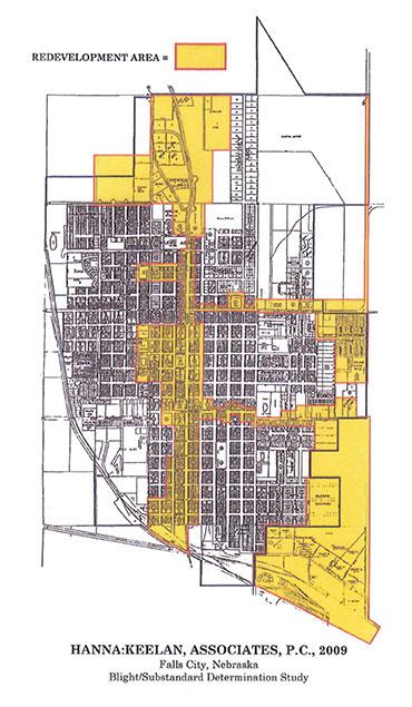 falls city tif map