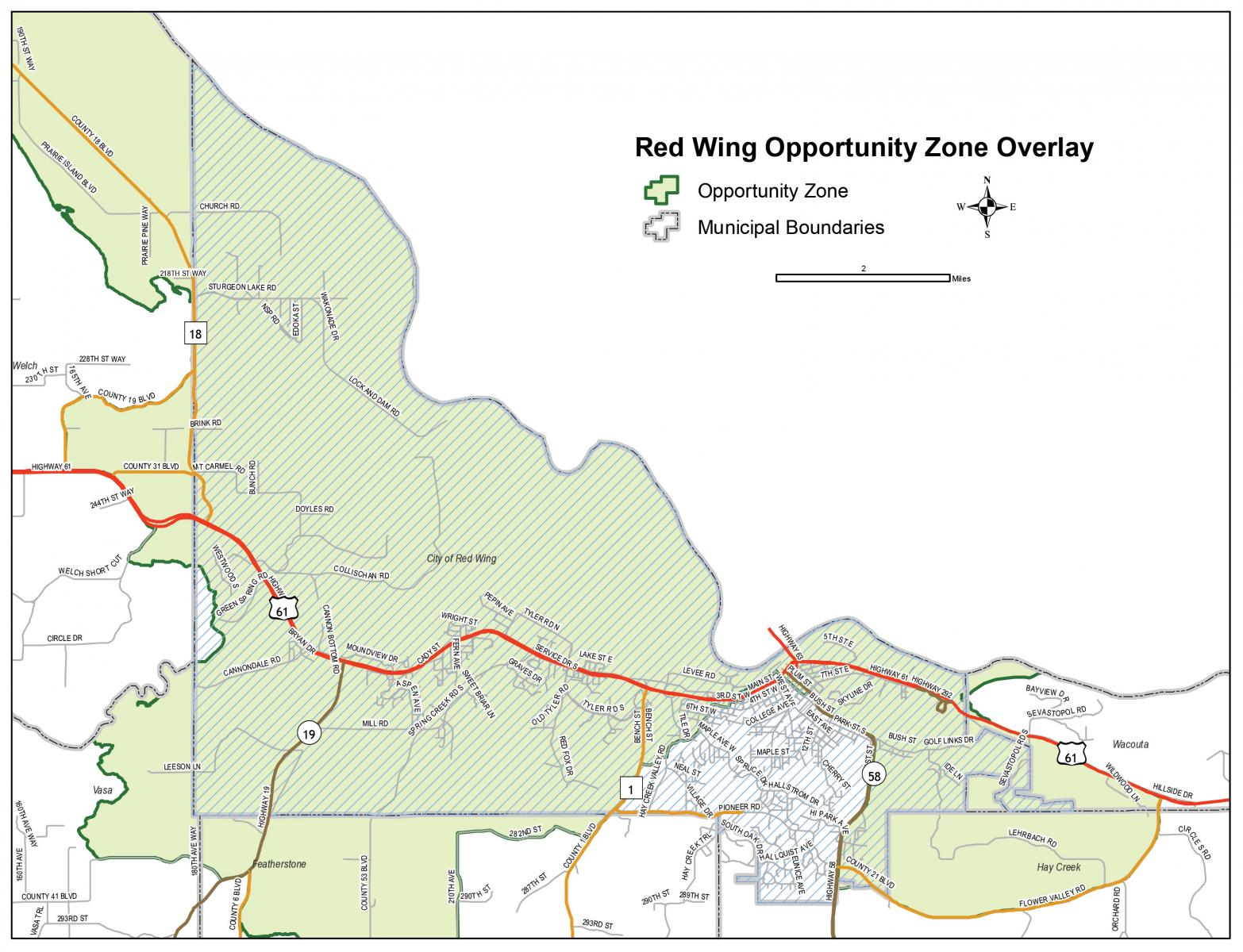 red wing opportunity zones
