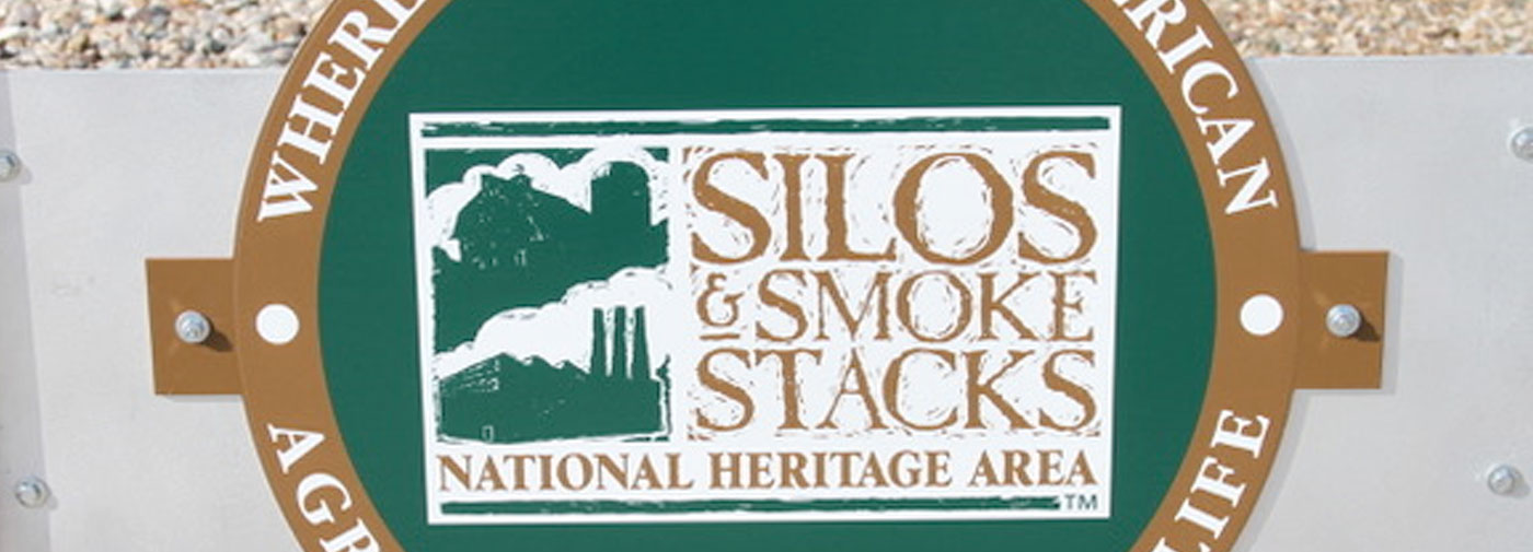 silos and smoke stacks