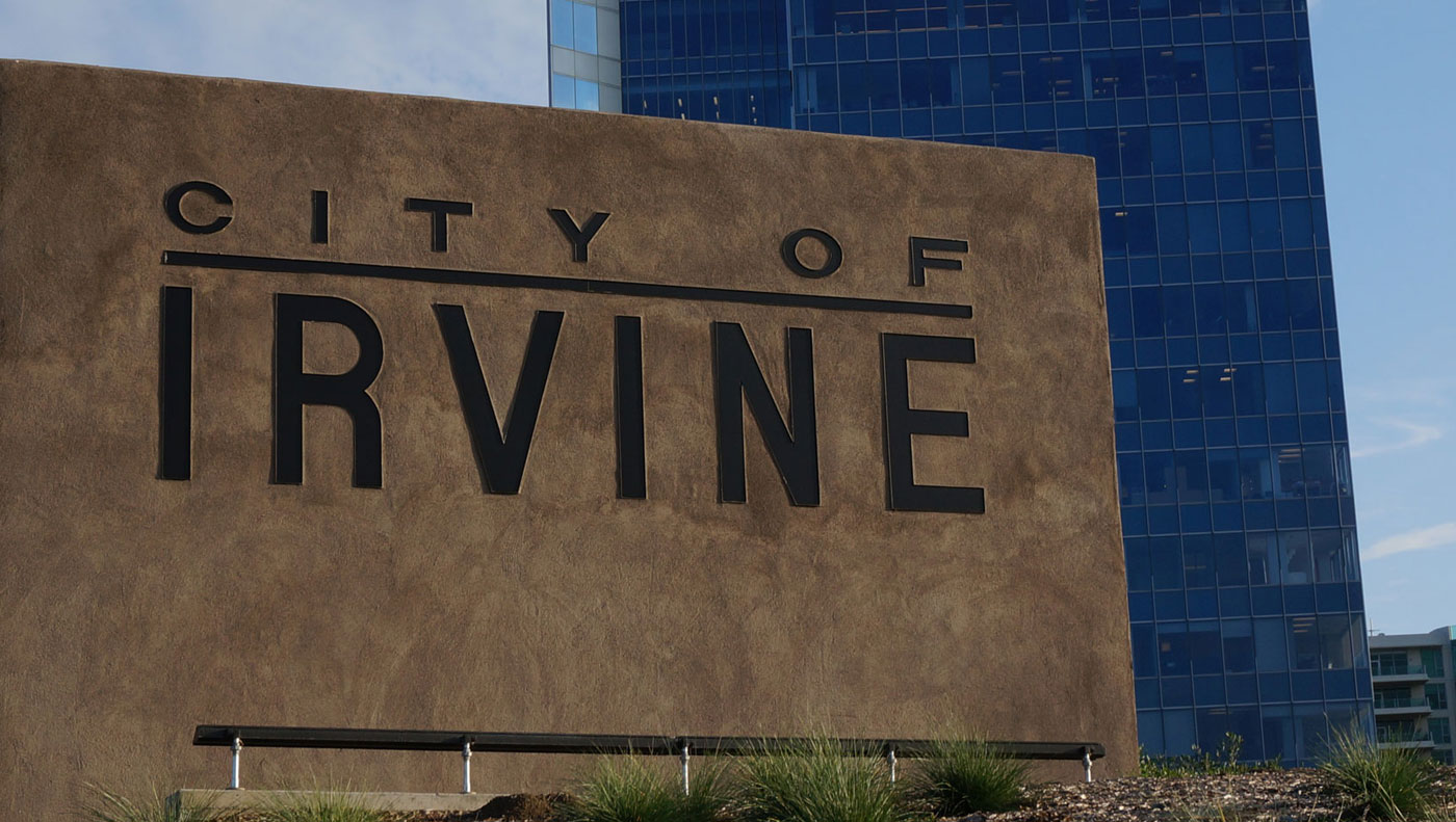 City of Irvine sign